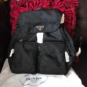 Prada brand new backpack with Dust bag auth!!!